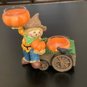Yankee Candle Scarecrow Double Candle Holder